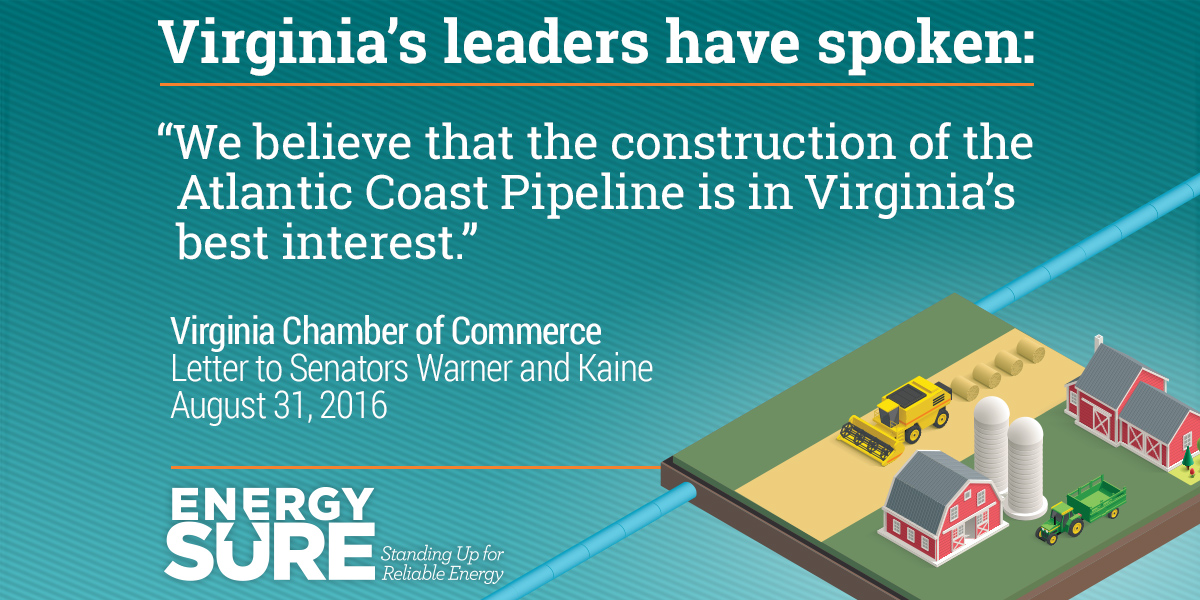 Chambers Of Commerce Submit Letter In Support Of Atlantic Coast Pipeline